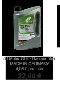 Gartendeko Angebot: Rasenmäher-Öl - made in Germany
