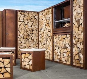 Brennholzregal Rost