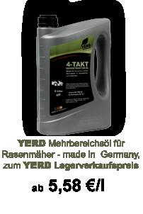 Lagerverkaufs-Angebot: YERD Rasenmäher-Öl - made in Germany