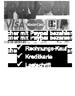 Sicher Bezahlen: PayPal PLUS - Rechnungskauf, Kreditkarte, Lastschrift