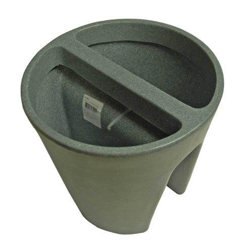 lagerverkauf balkongel nder blumentopf pflanztopf balconee grau 30 cm g nstig kaufen yerd. Black Bedroom Furniture Sets. Home Design Ideas