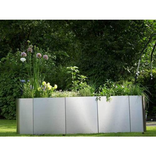 lagerverkauf edelstahl hochbeet square 163 h30 made. Black Bedroom Furniture Sets. Home Design Ideas