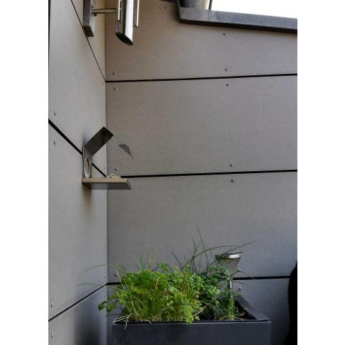 Vogelhäuschen Edelstahl Design-Objek