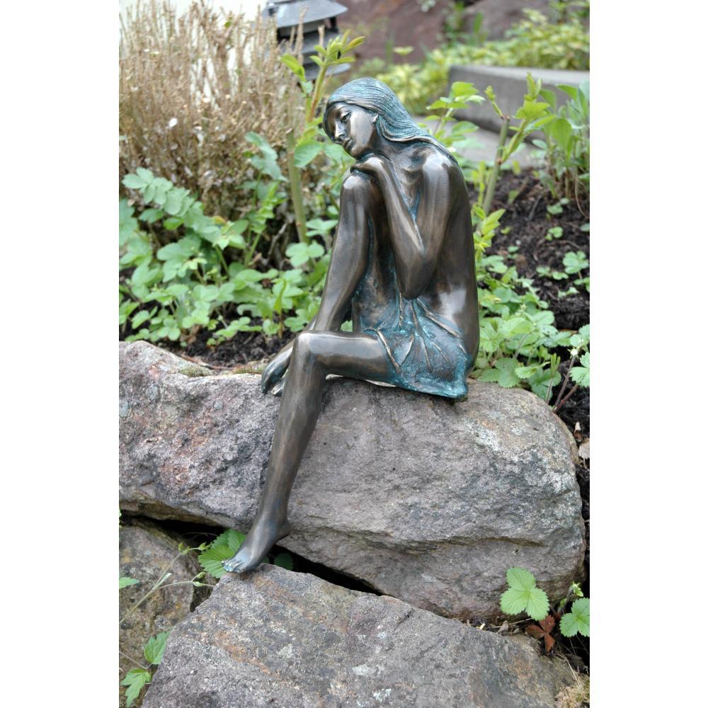 bronze figur gartenfigur skulptur emanuelle auf On bronze gartenfiguren