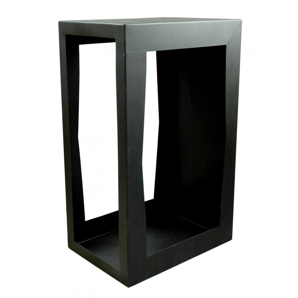 yerd holzbox sehr stabiles kaminholz regal 80x50x35cm schwarz anthrazitt verschwei tes stahl. Black Bedroom Furniture Sets. Home Design Ideas