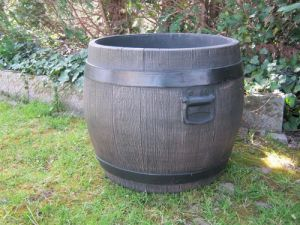 Blumenkübel: Fass Barrel XL (50cm x 47cm) / by YERD