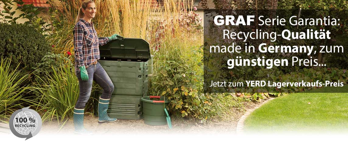 GRAF Thermokomposter aus 100% recyceltem Material