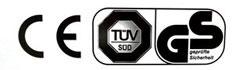 TÜV / GS zertifiziert
