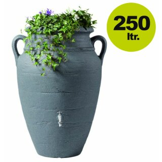 Graf Antik Regenwasser-Amphore 250 Liter in dark granite, made in Germany