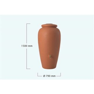 Graf Regen-Amphore 500 Liter in terracotta, made in Germany