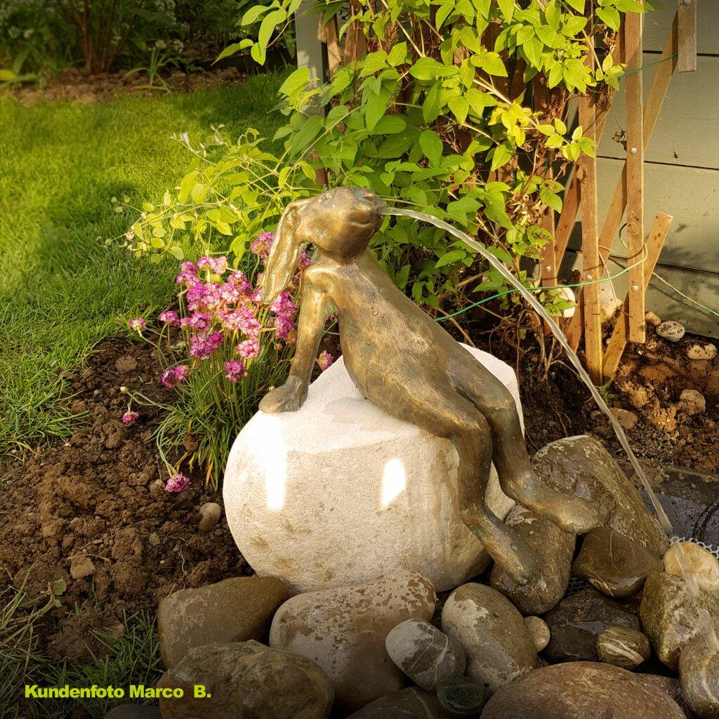 Bronzefigur / Wasserspeier Hase