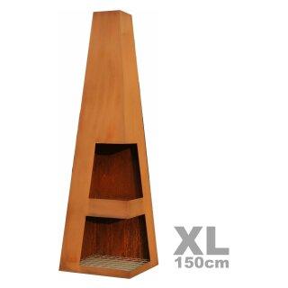 cortenstahl garten terrasse produkte, direkt ab importlager gartenkamin / terrassen-feuerstelle sanga xl, Design ideen