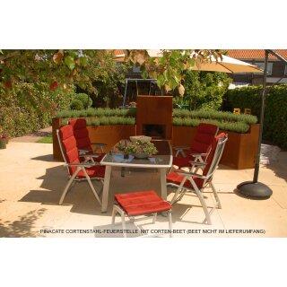 cortenstahl garten terrasse produkte, verkauf ab importlager terrassen-kamin / terassen-heizung, Design ideen