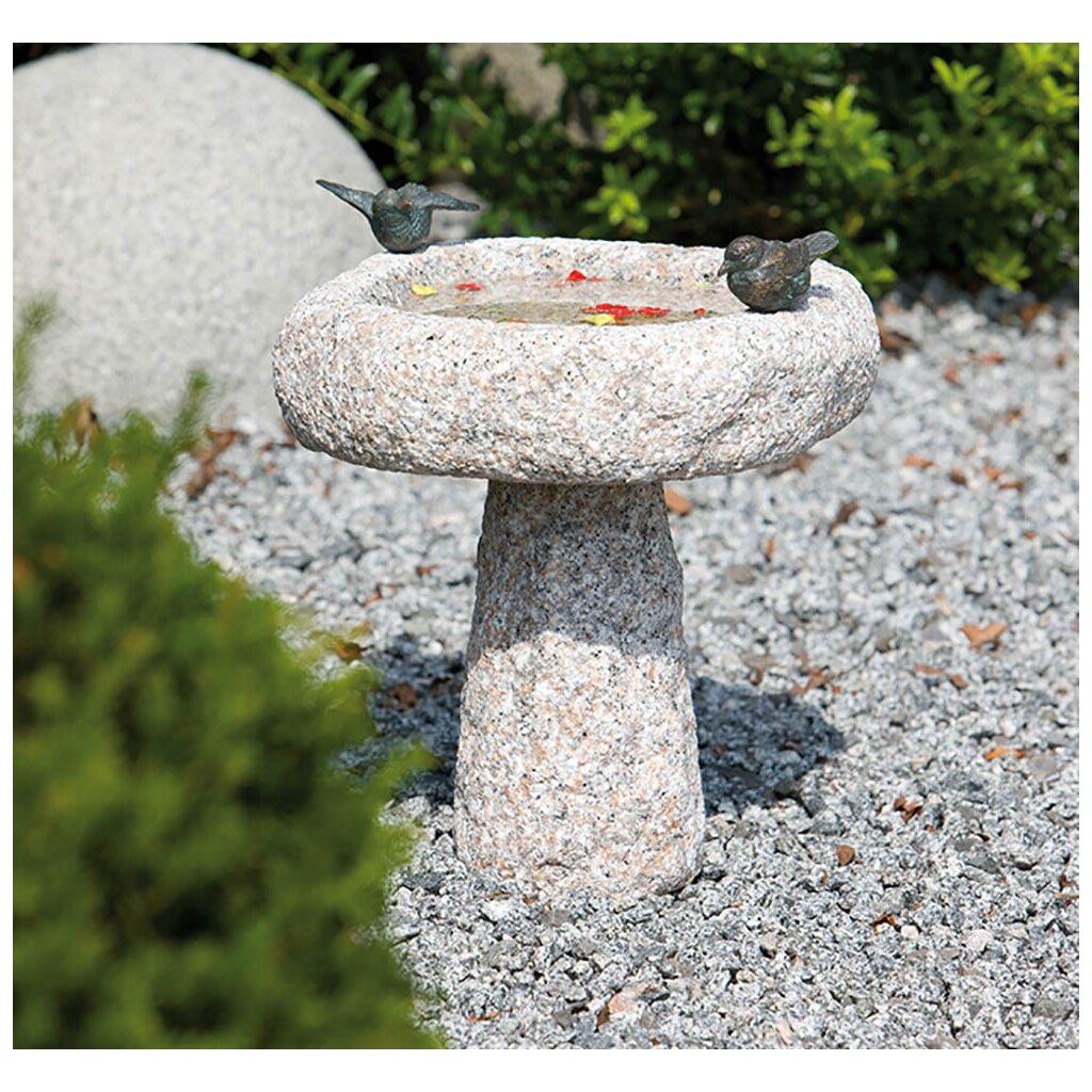 Bronze / Granit: Vogeltränke Fides mit Vogelpaar, 119,00 € - YERD ...