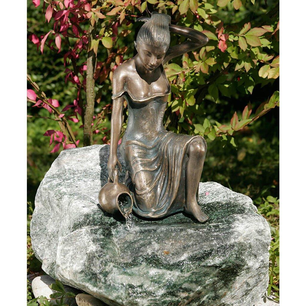 bronze figur gartenfigur skulptur letizia klein 35 cm. Black Bedroom Furniture Sets. Home Design Ideas