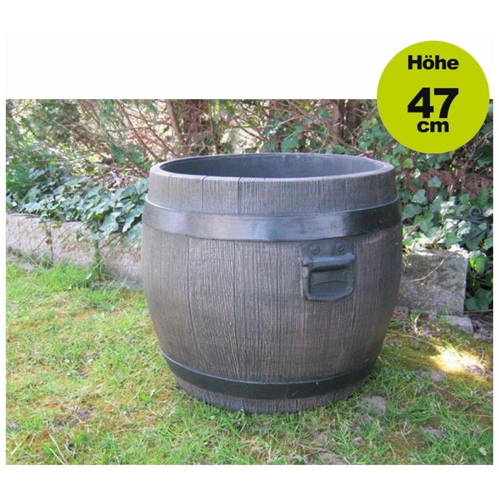 ✅ lagerverkauf: blumentopf / blumenkübel: fass barrel gr. xl (50cm